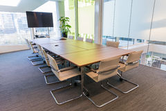 Meeting room. Modern meeting room with equipment for teleconference Royalty Free Stock Photos
