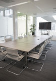 Meeting room. Modern meeting room with equipment for teleconference Stock Image