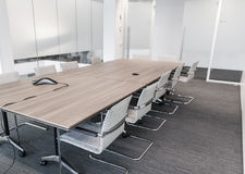Meeting room. Modern meeting room with equipment for teleconference Royalty Free Stock Photo