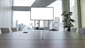 Meeting room. Modern meeting room with equipment for teleconference Stock Photography
