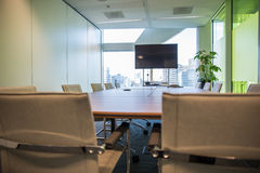 Meeting room. Modern meeting room with equipment for teleconference Royalty Free Stock Photography