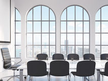 Meeting room, negotiations Stock Image