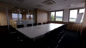 Meeting room. New office meeting room view stock video footage