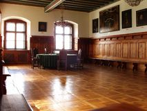 Meeting room in old City Hall. Conference room from medieval ages in old City Hall in Levoca, Slovakia Stock Image