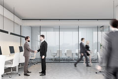 Meeting room and open space, side people Royalty Free Stock Images