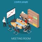 Meeting room presentation work flat vector isometric interior Royalty Free Stock Photos