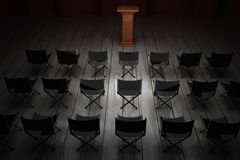 Meeting room with pulpit Stock Photography