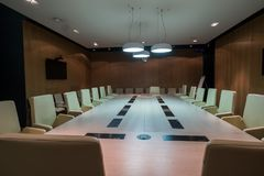 Meeting room is ready for Winter Bicycle Congress Stock Photography