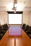 Meeting Room with Screen Stock Image