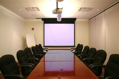 Meeting Room with Screen Stock Photography