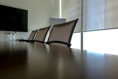 Meeting room and seats Stock Images