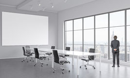 Meeting room for seven people Royalty Free Stock Images