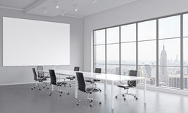 Meeting room for seven people Stock Images