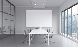 Meeting room for seven people Royalty Free Stock Photography