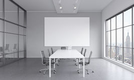 Meeting room for seven people Stock Image