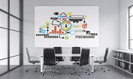A meeting room for six Stock Image