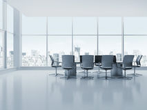 Meeting room. With table and chairs. 3d render Royalty Free Stock Images