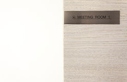 Meeting Room Title Royalty Free Stock Images