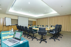 Meeting Room. View of a large meeting room royalty free stock photos