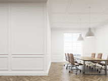 Meeting room with white walls Stock Photo