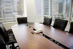 Meeting room and windows Stock Photo