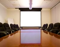 Free Meeting Room With Screen Stock Photography - 1752362