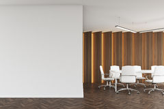 Meeting room with wooden panels Stock Photo