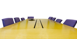 Meeting room with wooden table Royalty Free Stock Photos