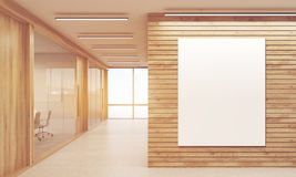 Meeting rooms and sunlit corridor Stock Images