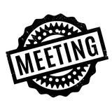 Meeting rubber stamp Stock Image