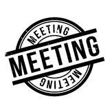 Meeting rubber stamp Stock Images