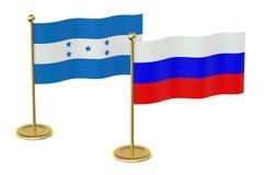 meeting Russia with Honduras Stock Photo