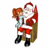 Meeting Santa 3 - It's Real Stock Photo