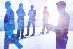 Meeting, stock, trade, teamwork and analysis concept Stock Photo