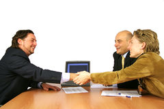 Meeting success hand shake royalty free stock photo