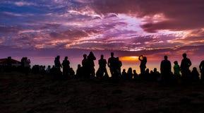 Meeting at sunset Stock Image