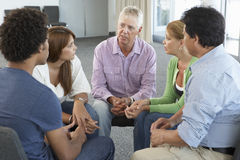 Meeting Of Support Group Royalty Free Stock Photos