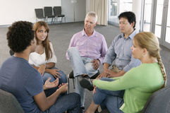 Meeting Of Support Group Royalty Free Stock Photography