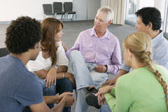 Meeting Of Support Group Stock Image