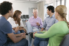 Meeting Of Support Group Royalty Free Stock Photo