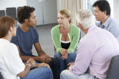 Meeting Of Support Group Stock Photos