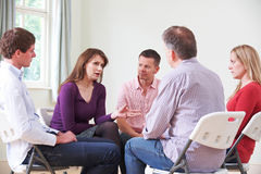 Meeting Of Support Group. Members Of Support Group Meeting stock photo
