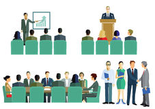 Meeting, symposium or training graphic Stock Photo