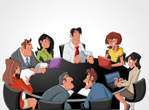 Meeting table royalty free illustration