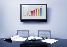 Meeting Table At Office Royalty Free Stock Photos