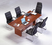 Meeting table. With chairs top view Stock Photo