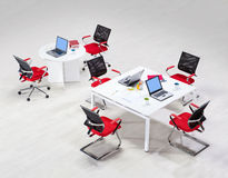 Meeting table. With chairs top view Royalty Free Stock Photo