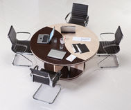 Meeting table. With chairs top view Stock Photos