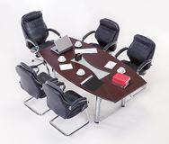 Meeting table. With chairs top view Royalty Free Stock Image