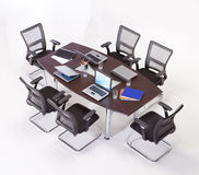Meeting table. With chairs top view Stock Image
